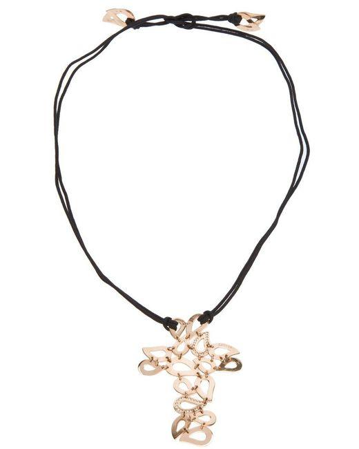 Gavello | Black Tear Drop Crucifix Necklace | Lyst