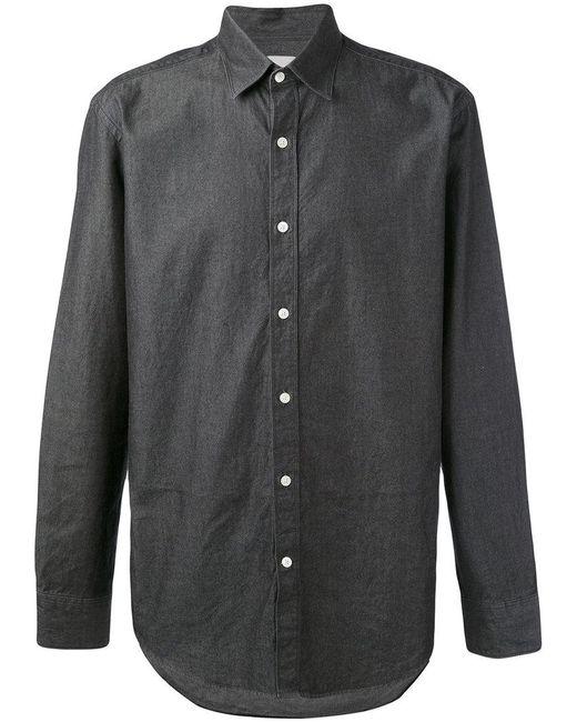 Hardy Amies - Gray Denim Twill Shirt for Men - Lyst
