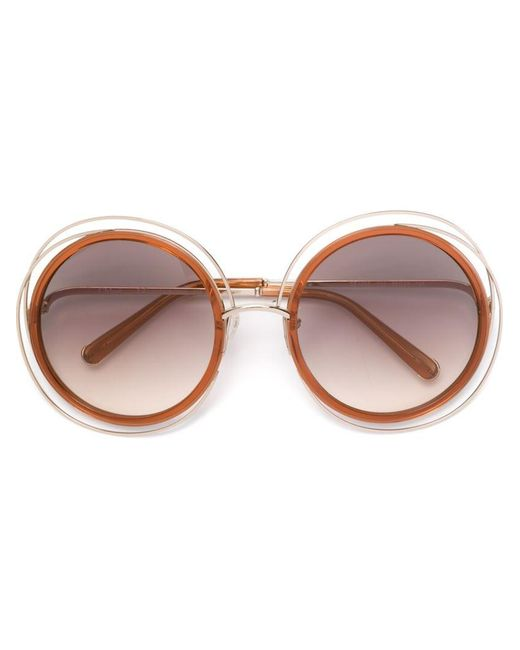 Chloé | Orange 'carlina' Sunglasses | Lyst