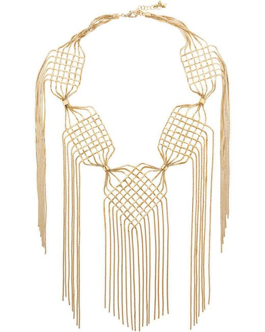 Rosantica - Metallic Aquilone Large Fringed Necklace - Lyst