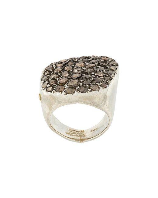 Rosa Maria - Metallic Diamond Ring - Lyst