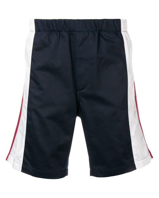 Givenchy - Blue Contrast Stripe Shorts for Men - Lyst