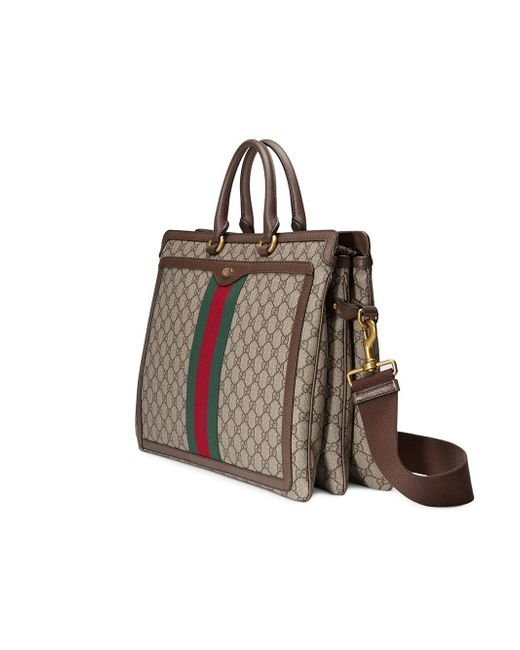 2a07f022726 ... Gucci - Brown Ophidia GG Briefcase for Men - Lyst