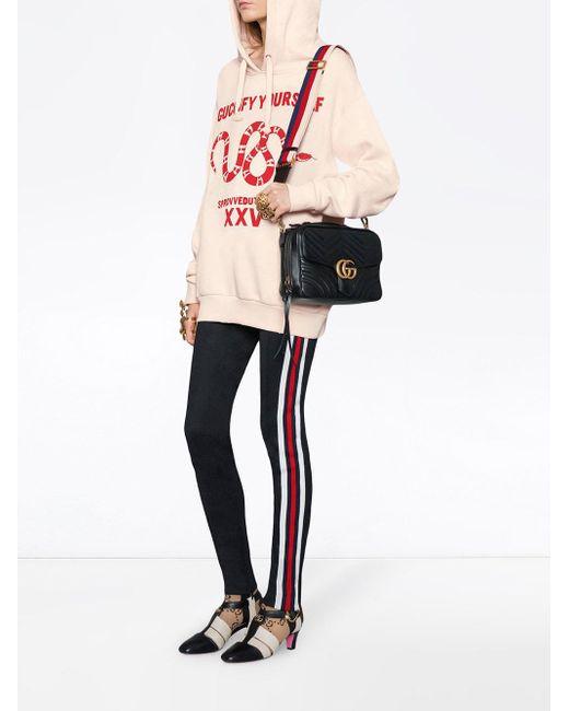 208854ba1 Gucci Gg Marmont Matelassé Shoulder Bag in Black - Save 25% - Lyst