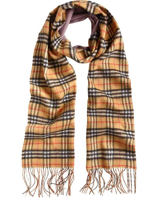 Burberry - Multicolor Cashmere Double Faced Check Scarf - Lyst