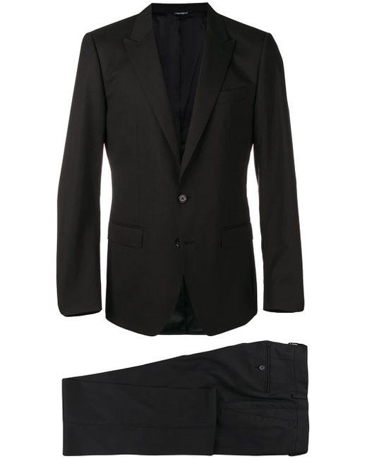 Dolce & Gabbana Black Two-piece Suit for men