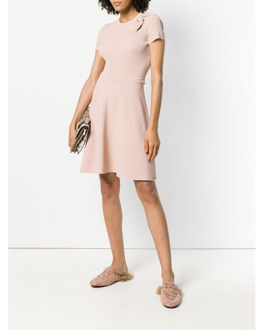 ribbed knit A-line dress - Nude & Neutrals Red Valentino gqBRW