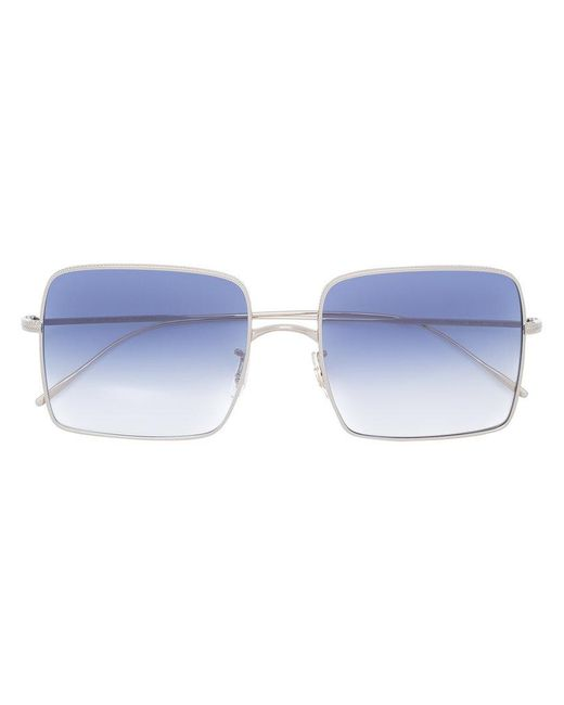 Oliver Peoples - Metallic Square Frame Sunglasses - Lyst