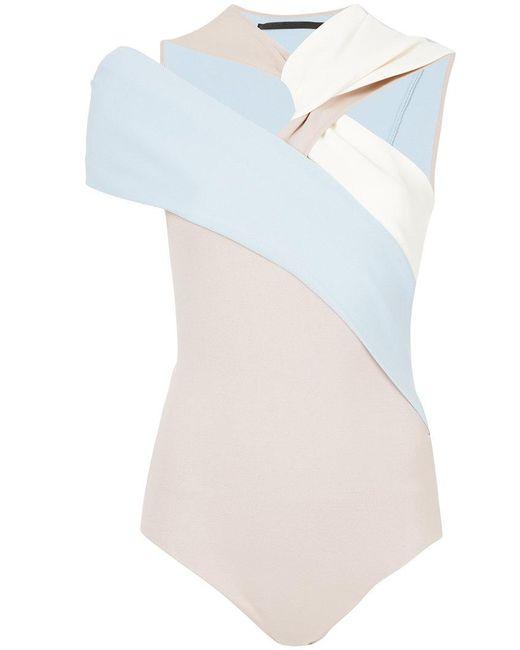 Haider Ackermann - Blue Drape Knit Body - Lyst