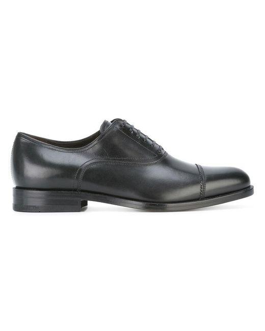 Ferragamo | Black Lace-up Oxford Shoes for Men | Lyst