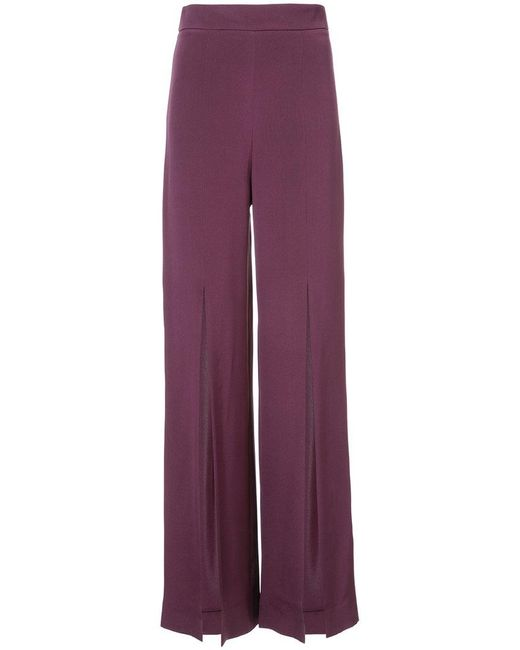 Cushnie et Ochs   Purple Slit Wide-leg Trousers   Lyst