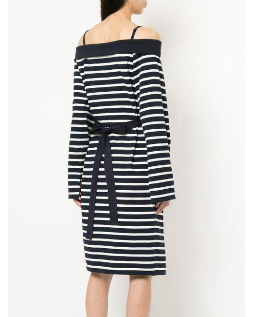one shoulder belted wrap dress - Blue GOEN.J Cheap Sale Get To Buy Sast For Sale Best Wholesale Online Wide Range Of Online iS9FdeO