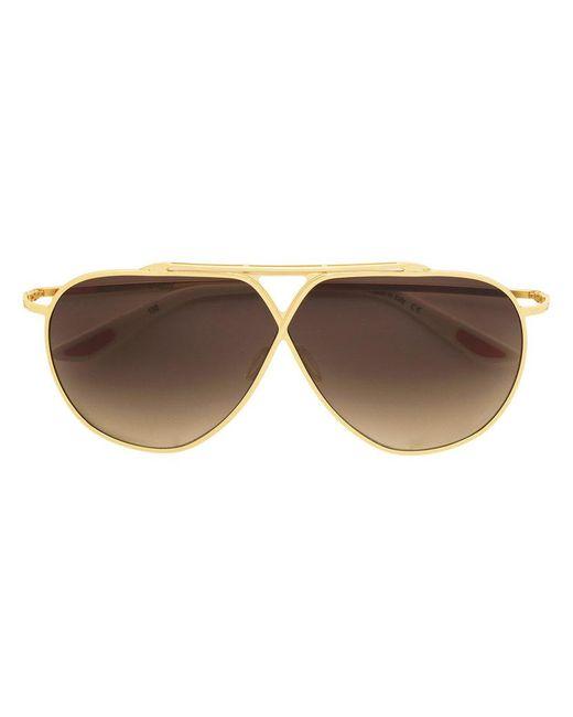 Christian Roth Eyewear - Metallic Tinted Aviator Sunglasses - Lyst