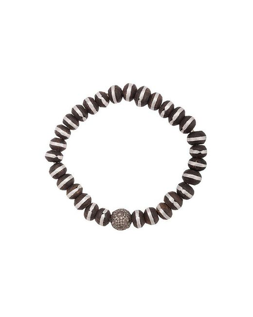 Loree Rodkin - Metallic Wood Beaded Pave Diamond Bracelet - Lyst