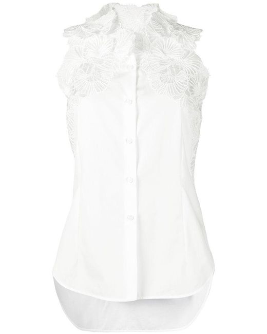 Ermanno Scervino - White Floral Lace Shirt - Lyst