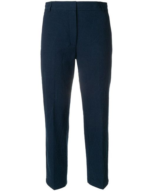 Thom Browne - Blue Cropped Tailored Trousers - Lyst