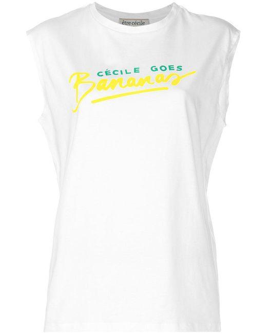 Être Cécile | White Banana T-shirt | Lyst