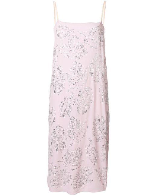 N°21 - Pink Embellished Cami Dress - Lyst