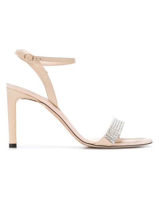 Nina Ricci - Natural Embellished Sandals - Lyst