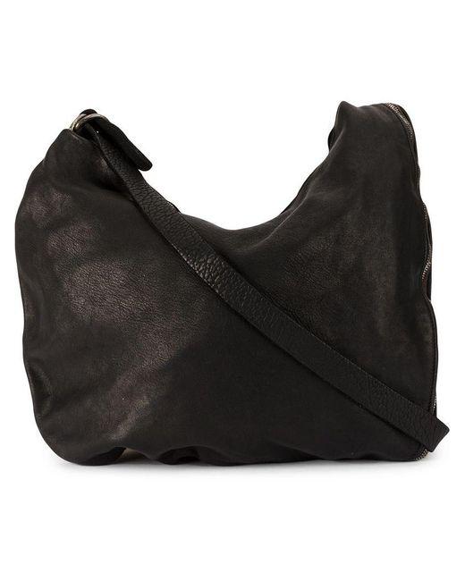 Guidi - Black Zipped Shoulder Bag - Lyst