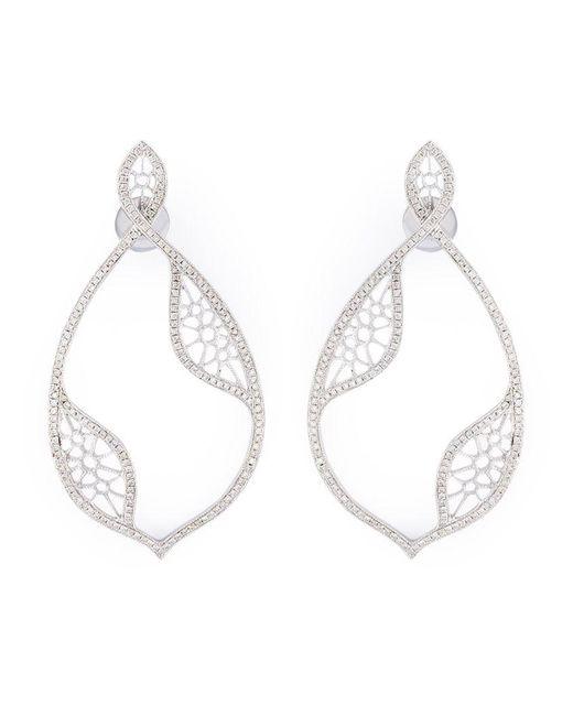 Joelle Jewellery - Metallic Diamond Teardrop Earrings - Lyst