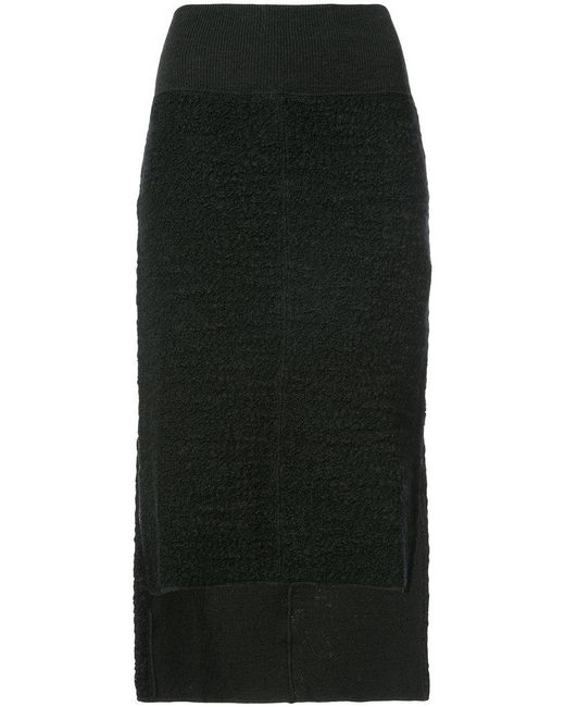 Nude - Black Asymmetric Skirt - Lyst