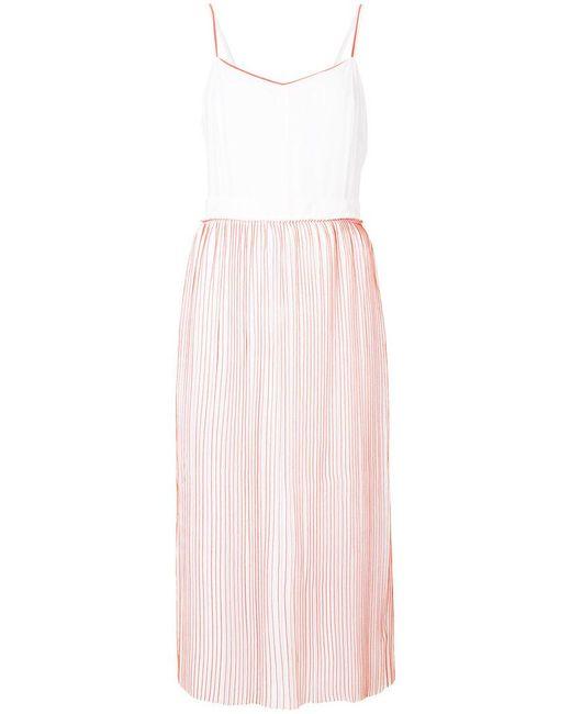 Victoria, Victoria Beckham - White Contrast Piped Midi Dress - Lyst
