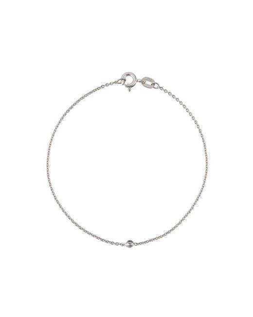 Wouters & Hendrix - Metallic 18kt White Gold Single Diamond Bracelet - Lyst