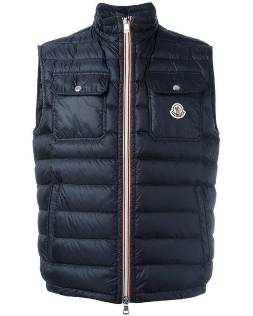 Moncler | Blue Achille Padded Gilet for Men | Lyst