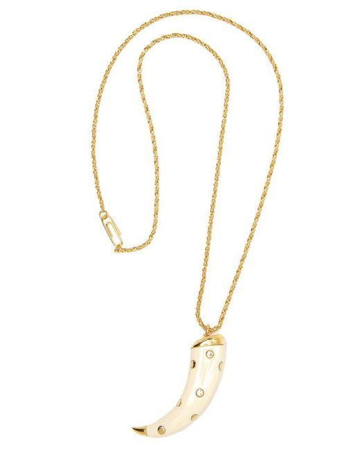 Aurelie Bidermann | Metallic Studded 'caftan Moon' Necklace | Lyst