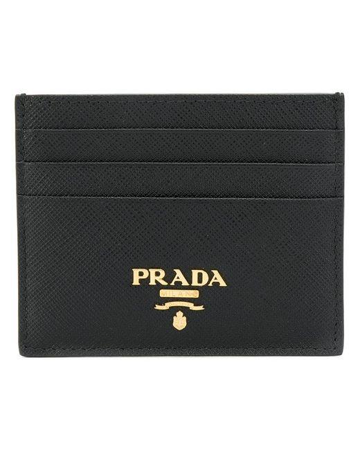 Prada - Black Saffiano Cardholder - Lyst