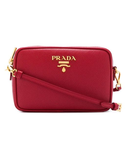 Prada - Red Saffiano Cross-body Bag - Lyst