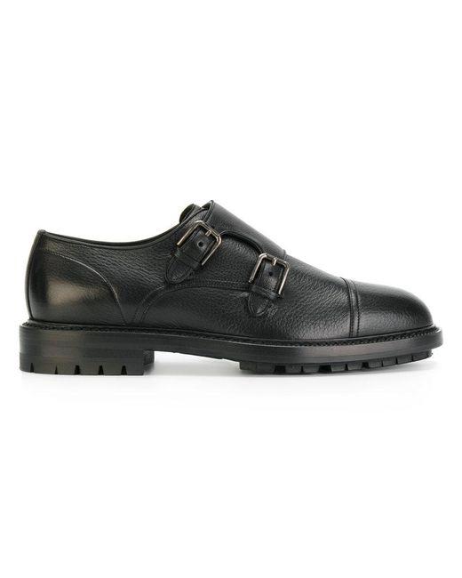 Dolce & Gabbana - Black Monk Shoes for Men - Lyst