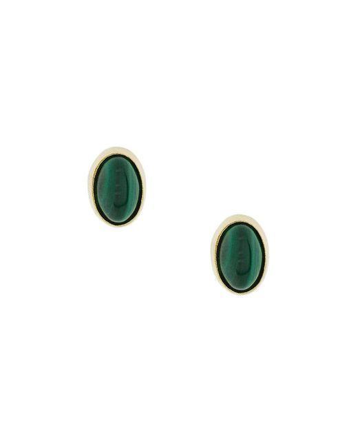 Wouters & Hendrix - Metallic Oval Malachite Earrings - Lyst