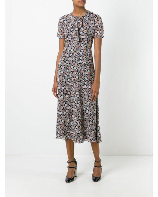 floral print dress - Multicolour Saint Laurent g3K49