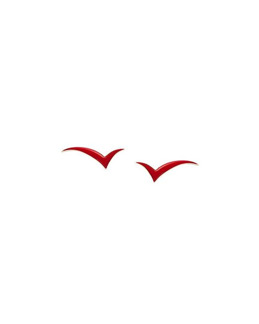 Eshvi - Red 'fly With Me' Earrings - Lyst