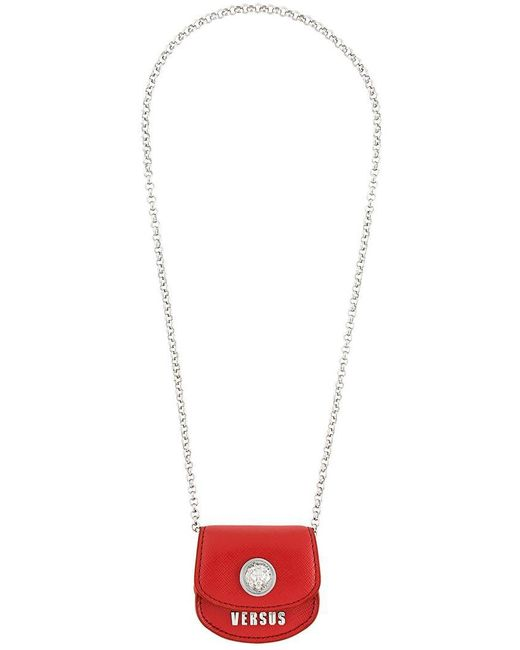 Versus  - Red Coin Bag Necklace - Lyst