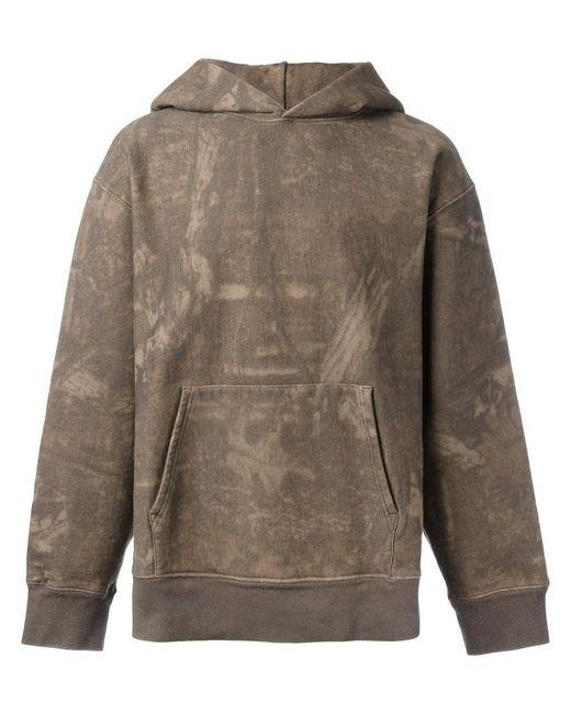 yeezy season 3 abstract print hoodie in brown for men lyst. Black Bedroom Furniture Sets. Home Design Ideas