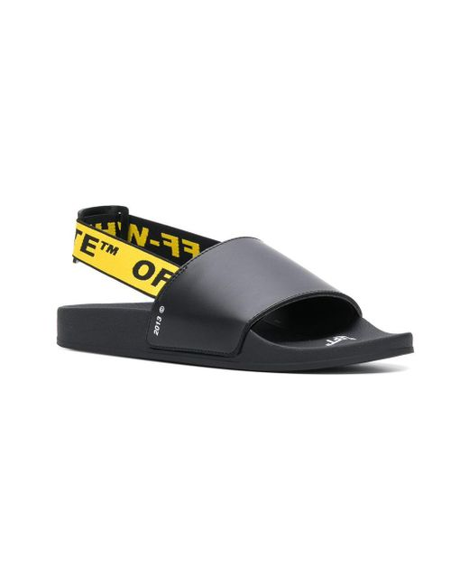 26ed749f373 ... Off-White c o Virgil Abloh - Black Industrial Logo Strap Sandals for Men  ...