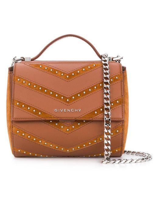 Givenchy - Brown Pandora Box Studded Bag - Lyst