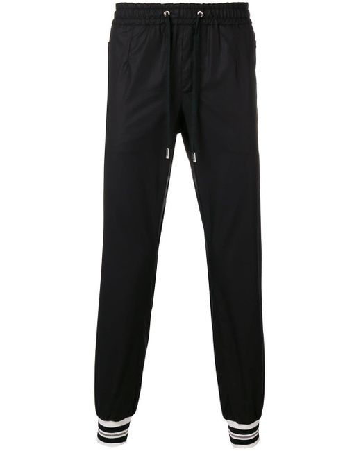 Dolce & Gabbana - Black Jogginghose mit engen Bündchen for Men - Lyst