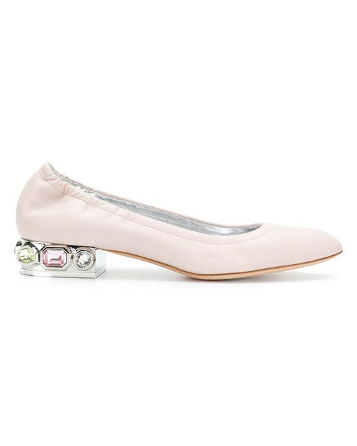 Casadei Embellished ballerina shoes LGI5Ch