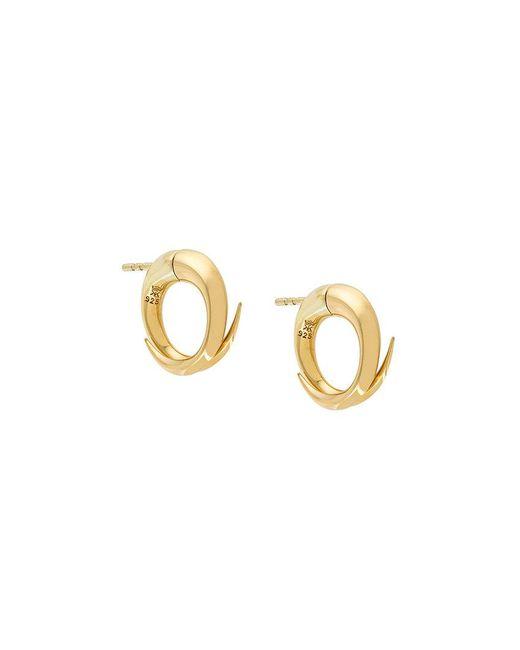 Kasun - Metallic Croc Hoop Earrings - Lyst