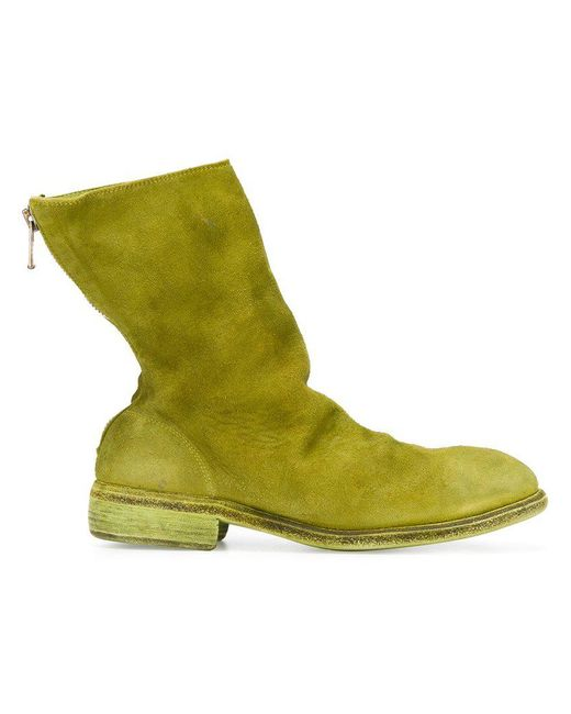 """Guidi - Green Bottines """"Stag Reverse"""" for Men - Lyst"""
