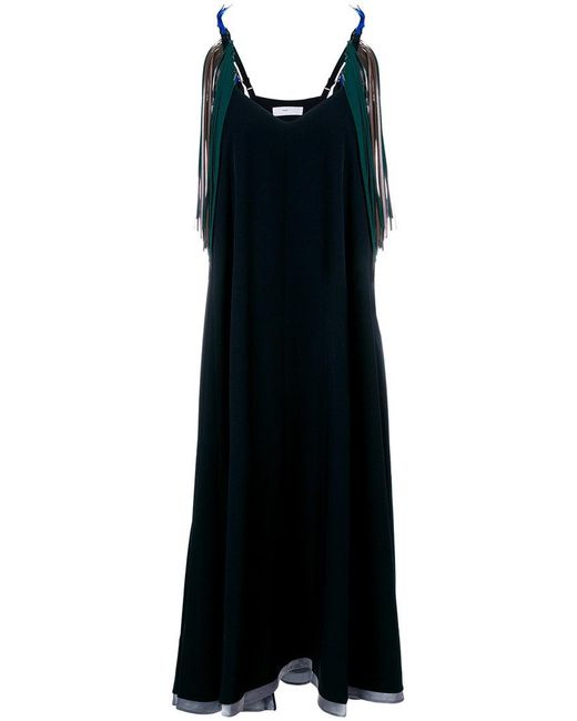 Toga Pulla - Blue V-neck Flared Dress - Lyst