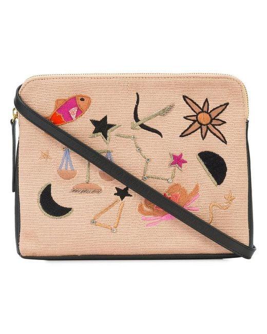Lizzie Fortunato | Black Patch Clutch Bag | Lyst