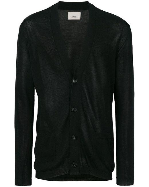 Laneus - Black V-neck Cardigan for Men - Lyst
