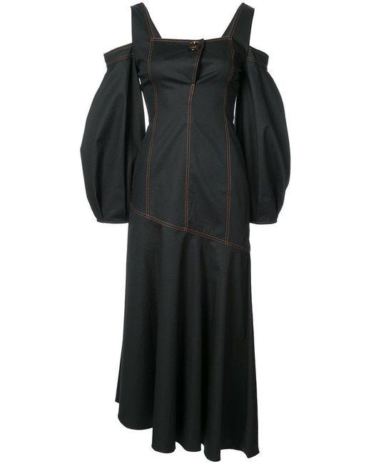 Ellery - Black Off Shoulder Dress - Lyst
