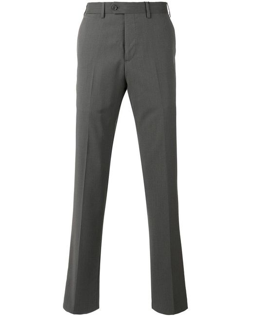 Armani | Gray Tailored Trousers for Men | Lyst