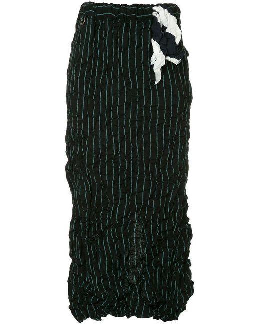 Facetasm - Black Wrap Style Skirt - Lyst